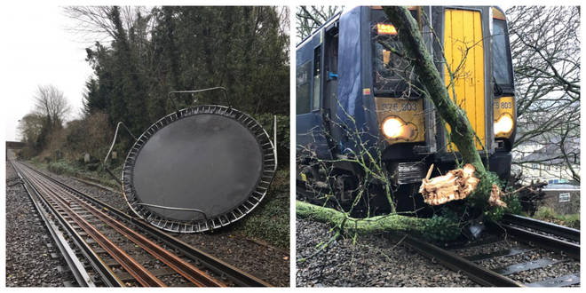 Storm Ciara has caused road and rail chaos