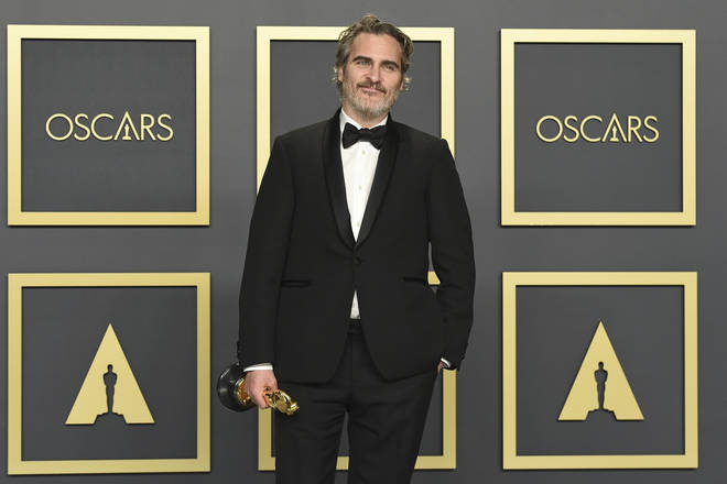 Joaquin Phoenix pictured after his win at the 92nd Academy Awards
