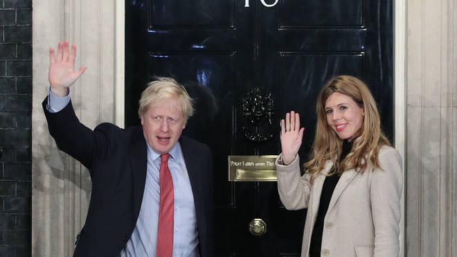 Ms Symonds pictured with Mr Johnson after the election