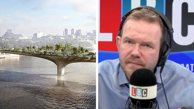 James O'Brien gave his response to Boris Johnson's latest promise of a bridge