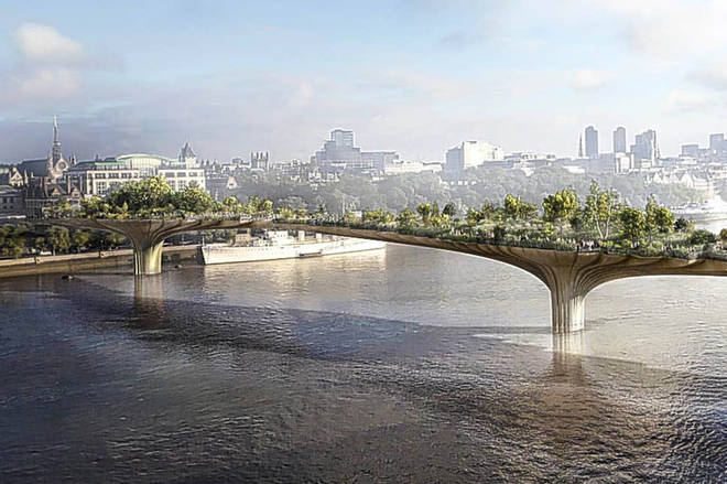 How the Garden Bridge was supposed to look