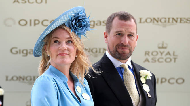 Peter and Autumn Phillips at Royal Ascot in June
