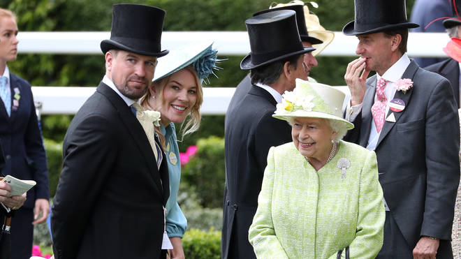 Peter and Autumn with the Queen at Ascot