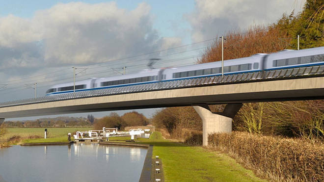 An artists impression of the HS2 once complete