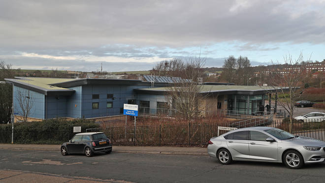The County Oak Medical Centre GP practice in Brighton was shut due to coronavirus fears