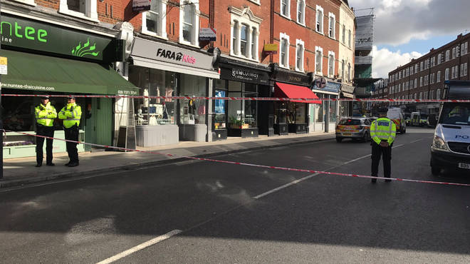 Police Cordon in place at Parsons Green Tube Station