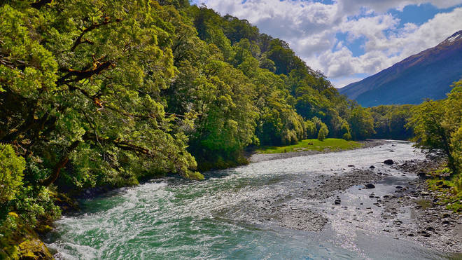 Ms Simpson was hiking in Mount Aspiring National Park