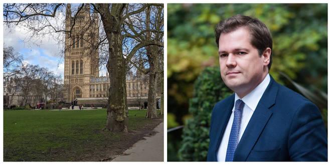 Victoria Tower Gardens in Westminster / Communities Secretary Robert Jenrick