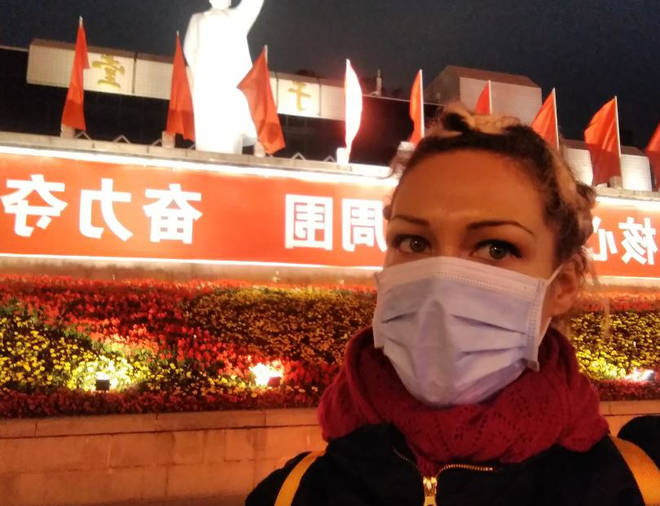 The Brit teacher is trapped in Fuzhou, in China