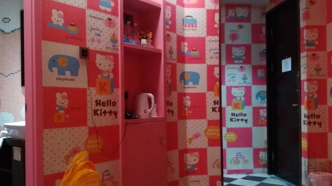 One of the Hello Kitty hotel's Shell was forced to leave