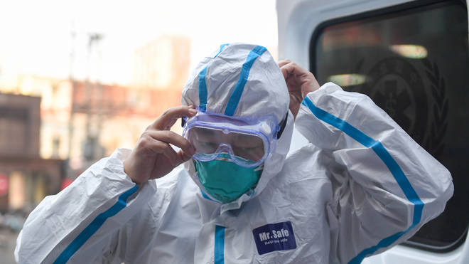 Healthcare workers in China have frequently been seen in protective equipment