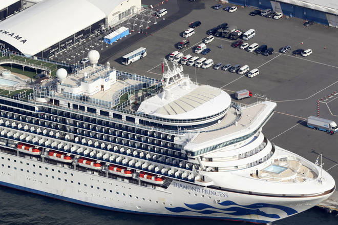 The Diamond Princess has had an outbreak of cases on board