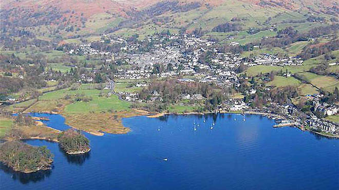 The family live in Ambleside on the shore of Lake Windermere