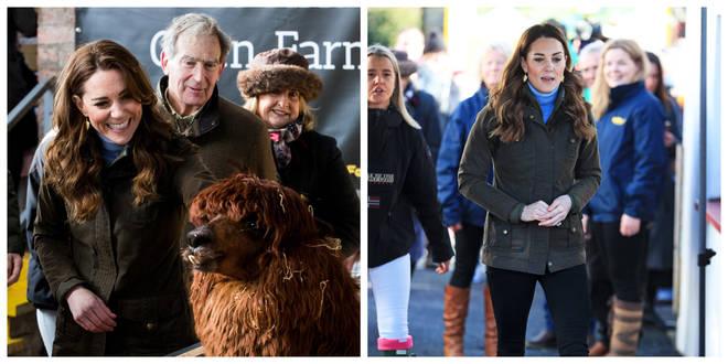The Duchess of Cambridge took a trip to an open farm