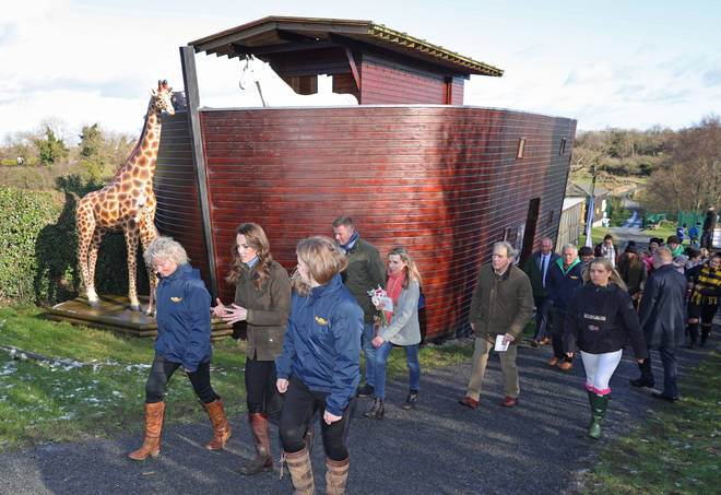 Kate was given a tour of the farm