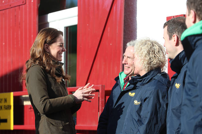 Kate also met with the farm owners