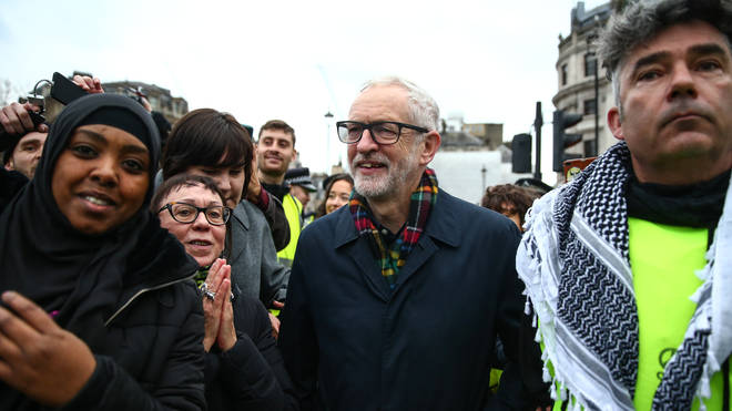 Jeremy Corbyn Joins London Protest Against War With Iran