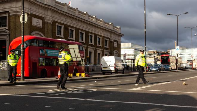 Police guard the scene of November's London Bridge terror attack