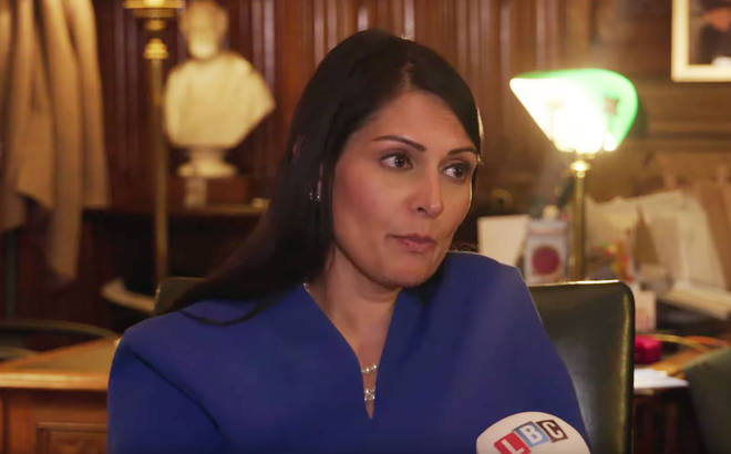 Priti Patel speaking exclusively to LBC