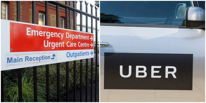 A woman confirmed to have coronavirus arrived to hospital in an Uber, it has been claimed