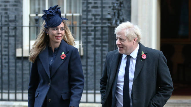 Mr Johnson and girlfriend Carrie Symonds pictured together