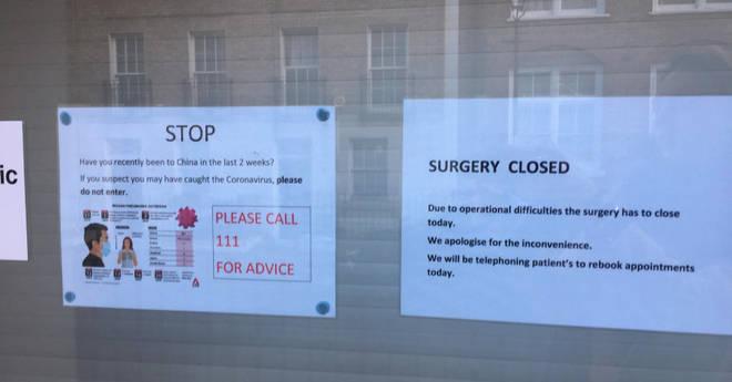 A GP surgery in Islington has closed due to coronavirus fears