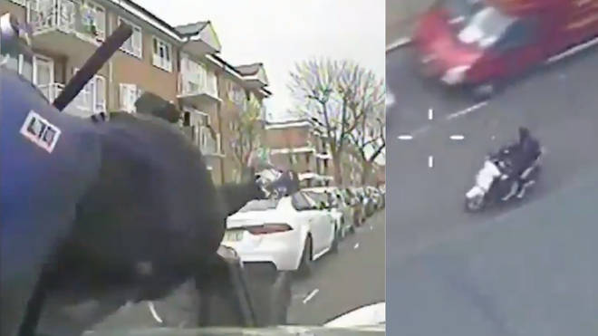 The police use the tactic to halt motorbike crime when riders refuse to stop
