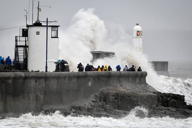 Porthcawl, Wales, is bearing the brunt of Storm Dennis