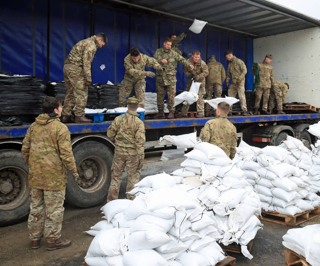 Soldiers have been deployed in West Yorkshire to asssit with the flood defences