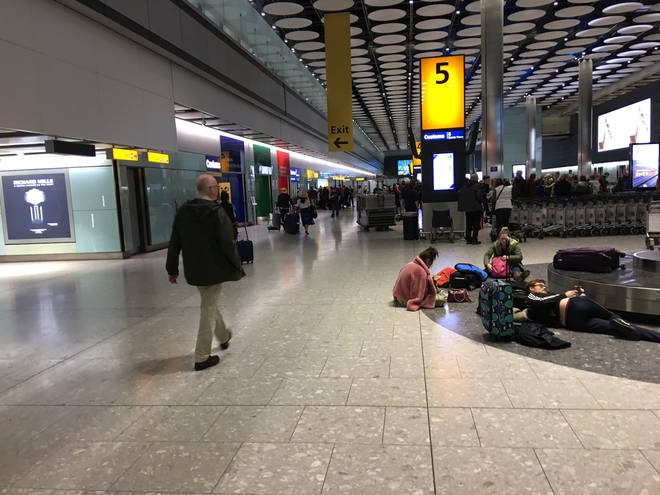 Passengers have been unable to collect luggage upon arrival