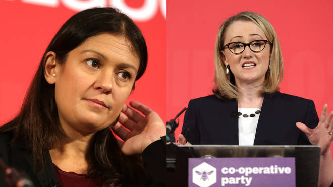 Labour leadership candidates Lisa Nandy (L) and Rebecca Long-Bailey (R) have spoken out on trans rights