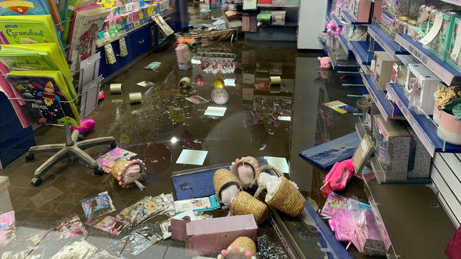 Card Factory in Pontypridd was damaged by flooding