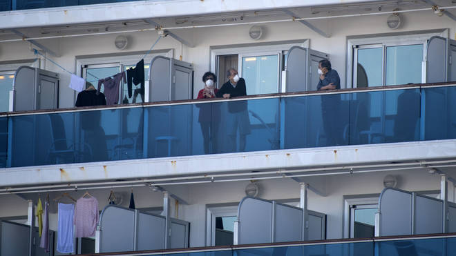 Passengers have been quarantined aboard the Diamond Princess after suspected cases were detected onboard