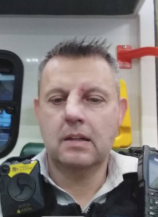 Pc Jenkins had his head hit repeatedly on paving slabs