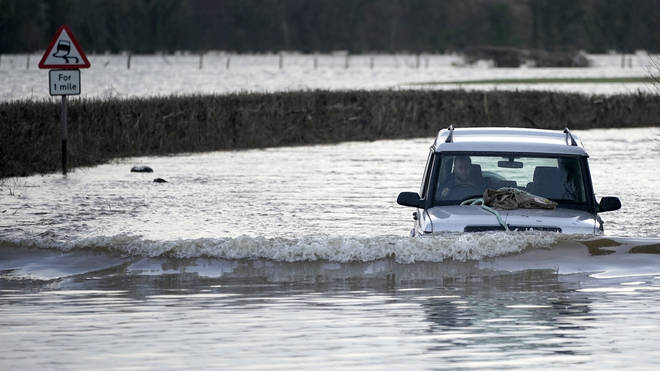 "Storm Dennis has swelled rivers to ""exceptional"" levels in parts of Britain"