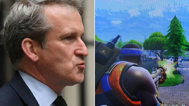 Damian Hinds discussed the problem with Fortnite