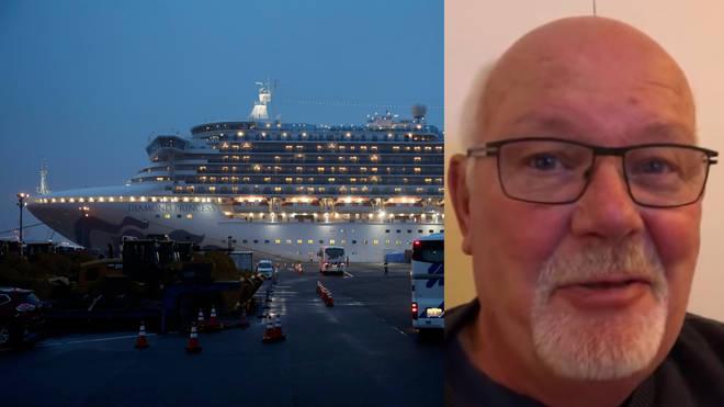 Mr Abel has been aboard the Diamond Princess cruise ship
