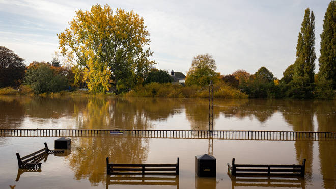 Worcester city centre was flooded after record river levels