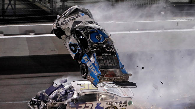 Ryan Newman's car was catapulted into the air during the horror smash