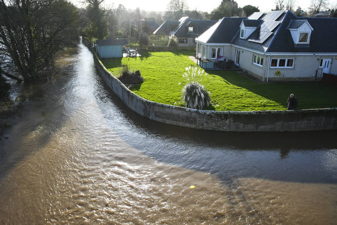 Rivers, including the River Tweed, have burst their banks