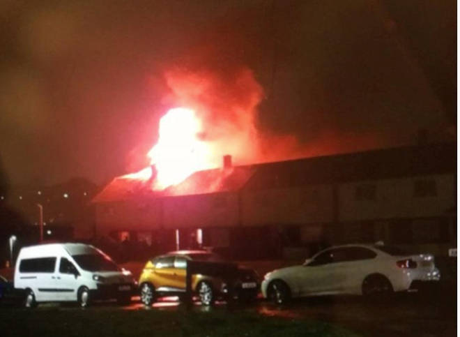 The fire was caused by a freak accident