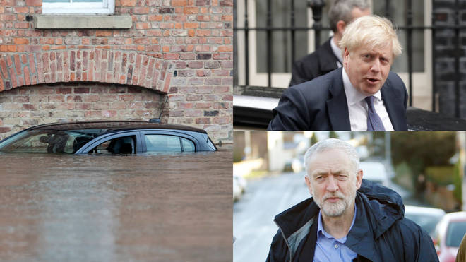 Labour leader Jeremy Corbyn has hit out at the Prime Minister over his response to the floods