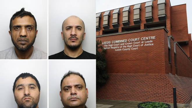 (left to right, top to bottom) Banaras Hussain, Usman Ali, Abdul Majid and Gul Riaz, who were all jailed on Wednesday as part of Operation Tendersea