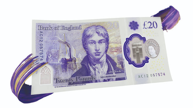 The new £20 note enters circulation from Thursday