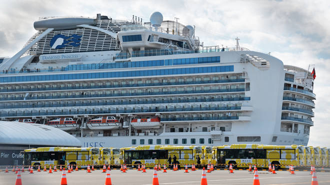 The Diamond Princess has been under quarantine of the coast off Japan