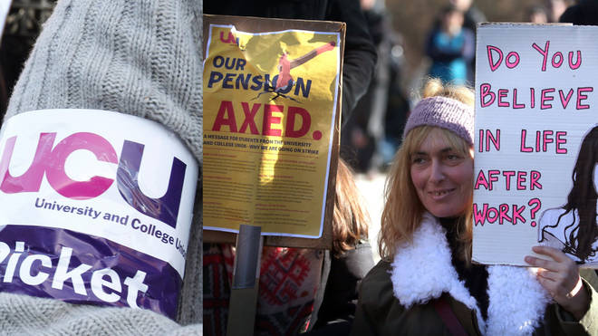 UCU members are striking over pension issues
