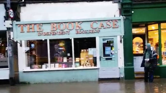The Book Case independent bookstore has a unique flood defence