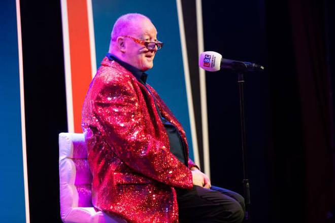 Steve Allen live on stage.