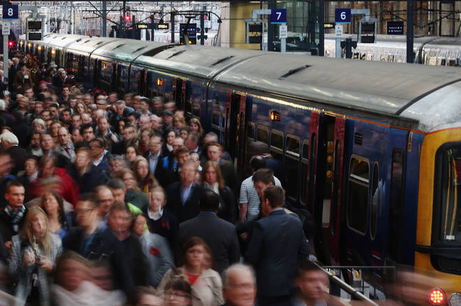 Two thirds of trains at the worst station were late last year
