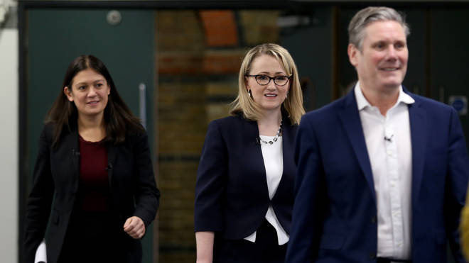 Labour leadership candidates (left to right) Lisa Nandy, Rebecca Long-Bailey and Sir Keir Starmer
